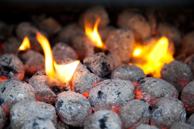 burning-charcoal-briquettes